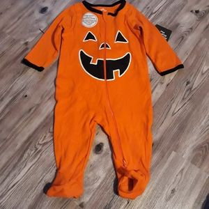 Other - Halloween pumpkin footie outfit